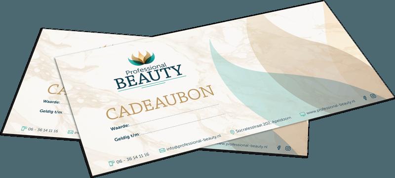 Cadeaubon van Professional Beauty Apeldoorn